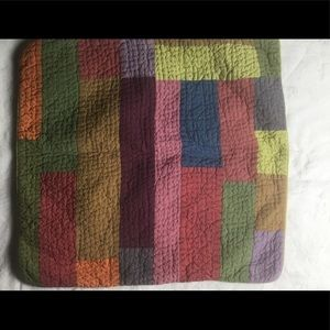 2 Pottery  Barn Euro Patchwork Quilted Pillow Sham